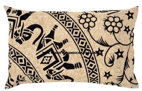 Elephant Mandala Pillow Cases Indian Cushion Cover Cotton Pillow Sham Bohemian