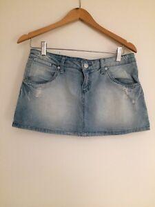 Denim-Rusty-Mini-Skirt-Size-UK-10