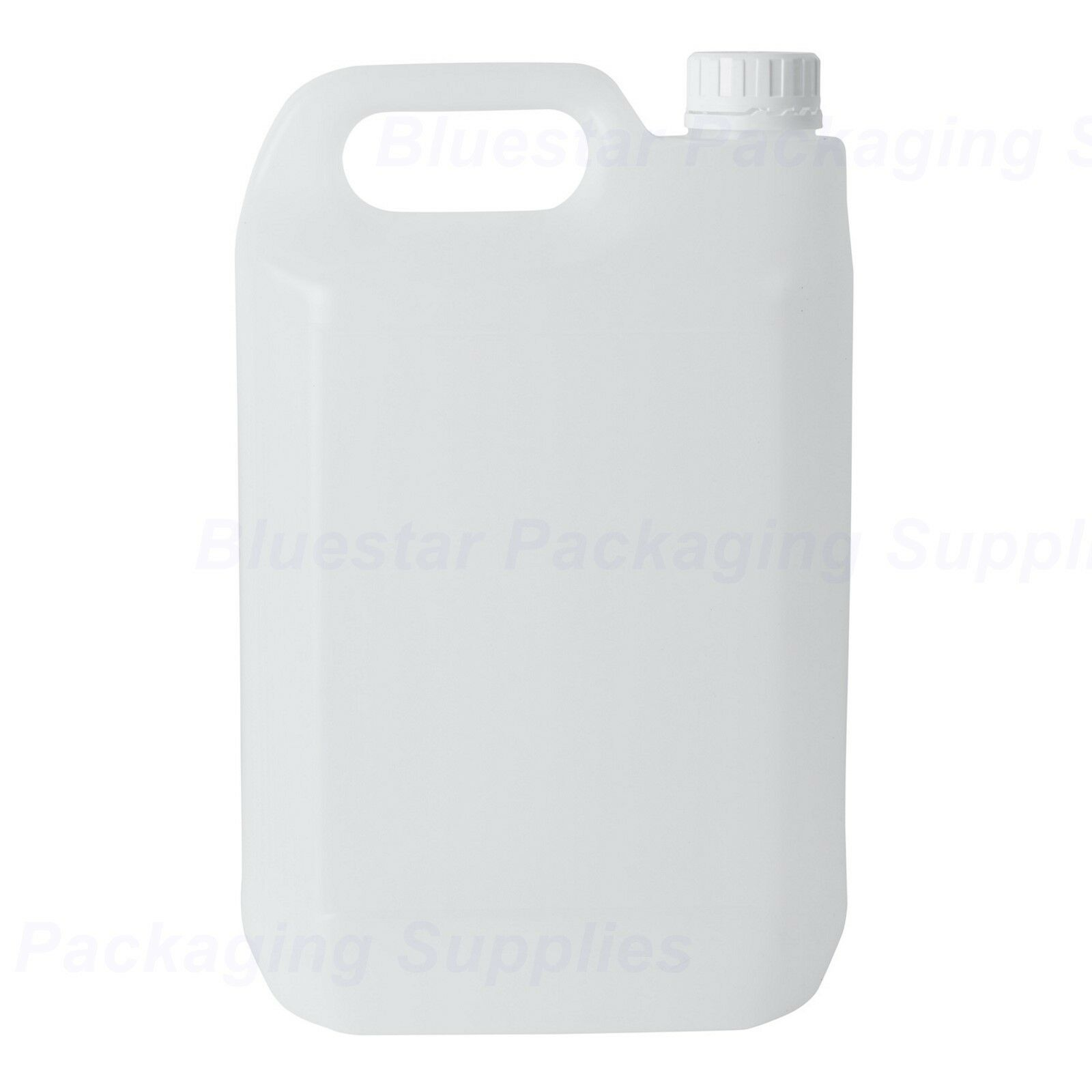 5 Litre 5L Plastic Jerry Can Bottle Water Carrier Container With Tamper Caps