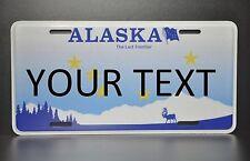US AUTO USA CAR ALASKA STATE LICENSE PLATE Kennzeichen Nummernschild DEIN TEXT