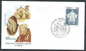 1980 Vaticano Viaggi Del Papa Norcia - Rm1
