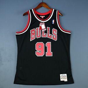 c4794665a6d 100% Authentic Dennis Rodman Mitchell Ness 97 98 Bulls Swingman ...