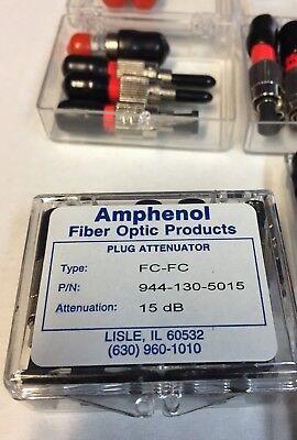 Amphenol 944-130-5015 FC Plug Type Fixed Optic 15 dB Attenuator optical pad