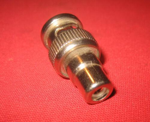 Adapter BNC Stecker auf Cinch Kupplung Buchse