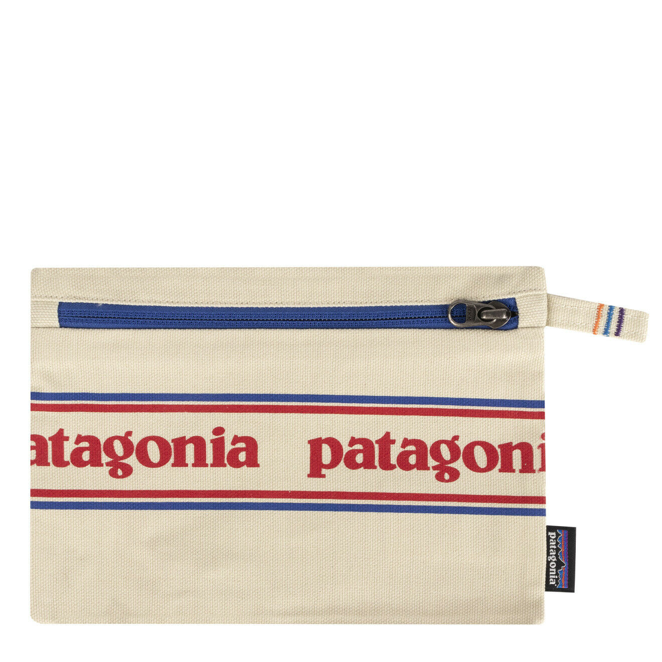 Patagonia Zippered Pouch Park Stripe Graphic Bleached Stone - SALE!!