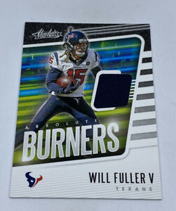 Details about 2020 Absolute BURNERS Will Fuller V Jersey Patch Relic #8