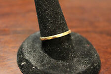 VINTAGE 14K YELLOW GOLD BAND RING FACETED DESIGN SIZE 6 1/4 NOT SCRAP GEODESIC