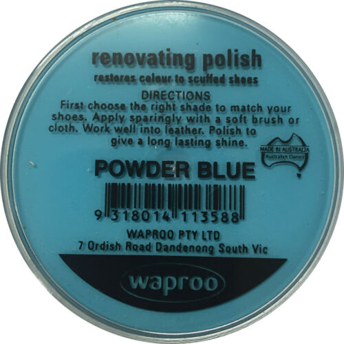 Top Quility !! Waproo Renovating Polish Powder Blue Shoe Polish Cream