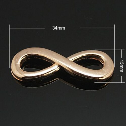 DIY Shamballa Link Links Zwischenstück Unendlichkeit Verbinder Bracelet infinity