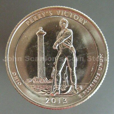 US National Park Quarter 2013- P D S  BU Mint State 3 Coins Perry/'s Victory