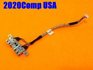 Lot of 3 OEM TOSHIBA Satellite L505 L505D Dual USB Port w// Cable 6017B0196601