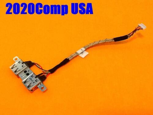 Lot of 3 OEM TOSHIBA Satellite L505 L505D Dual USB Port w// Cable 6017B0196601