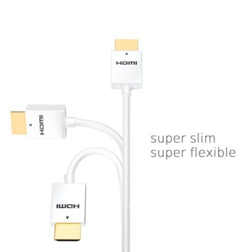 3D 2160p FullHD deleyCON 1,5m HDMI Kabel Flexy Serie 1.4a HighSpeed weiß