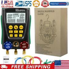 Dy517a Digital Manifold Gauge Refrigeration Pressure Tester Leakage Monitor