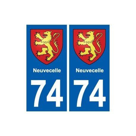 74 Neuvecelle blason autocollant plaque stickers ville droits