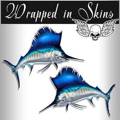 Fish Stickers Sailfish Decals Tackle Box RV Decals Vinyl Outdoor Decals AFP-0061