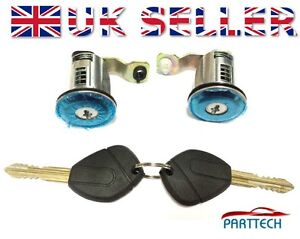FORD FIESTA COMPLETE DOOR LOCK SET 2 KEYS FRONT RIGHT and LEFT OSF NSF