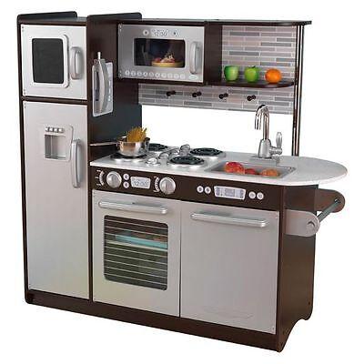 NEW KidKraft Uptown Espresso Kitchen KI055KI43LTW