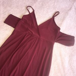Boohoo, BNWT, Wine Red, Sun Dress, UK 14