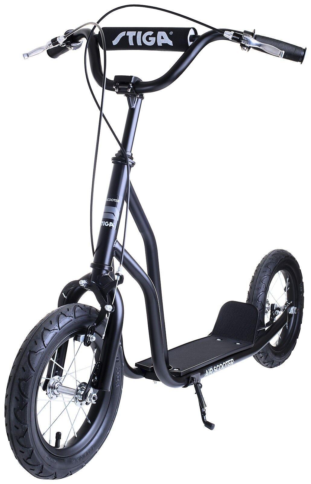 Stiga Scooter AIR mit Luftreifen Luftreifen Luftreifen Lufträder Roller Fahrrad Schwarz aa98e4