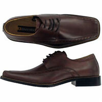 Stacy Adams Demill Leather Oxfords Brown Sz 8 Med
