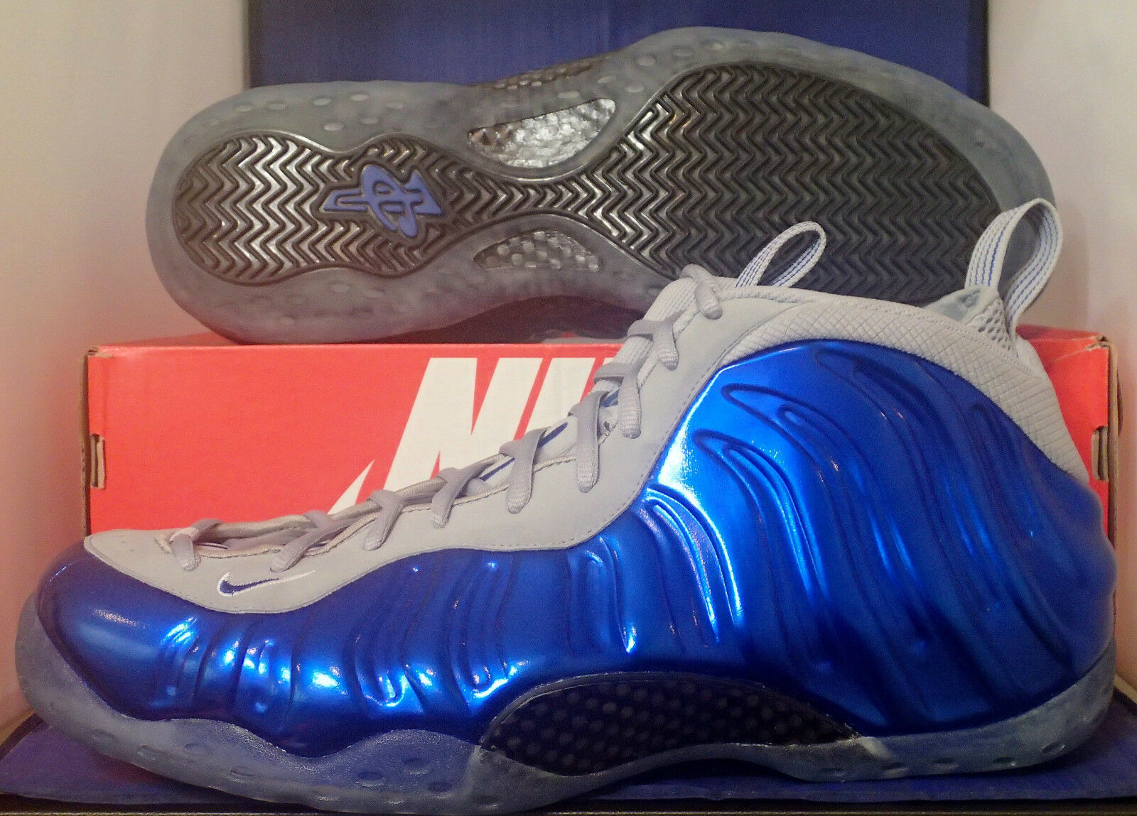 Nike Air Foamposite One Sport Royal Game Royal bluee Grey SZ 10.5 ( 314996-401 )