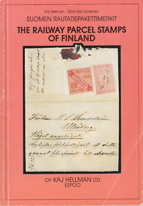 Railway-Parcel-Stamps-of-Finland-by-Kaj-Hellman-1993-edition-gently-used