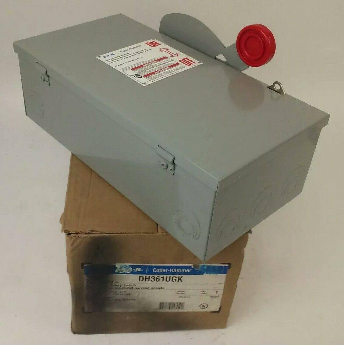CUTLER HAMMER DH361UGK NON-FUSIBLE SAFETY SWITCH 3P 30A 600V 30HP TYPE 1