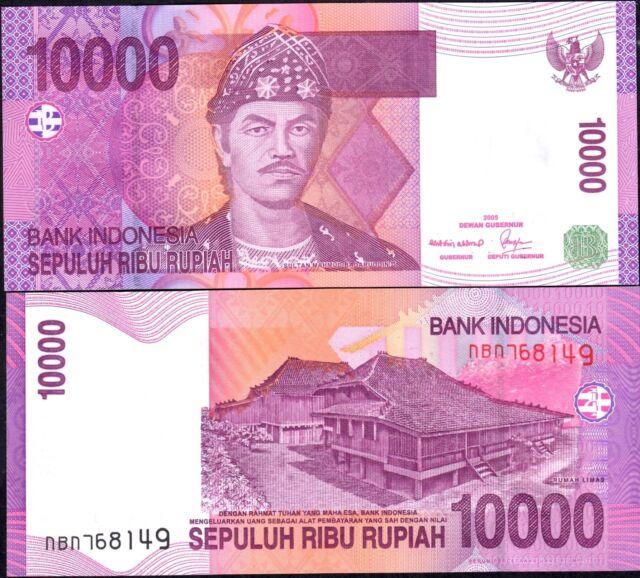 Indonesia 2005, 10000 Rupiah , Banknote UNC