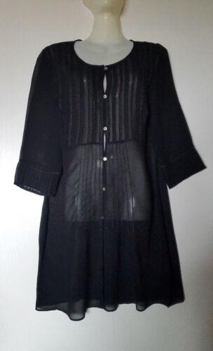 En 180 4 Robe Viscose Tunique Eur Fluide Noire Manches Prix Avec 3 yN8vnw0Om