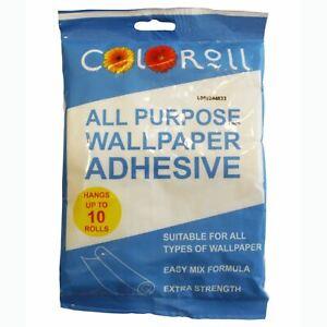 Qualite-Rouleau-Couleur-Papier-Peint-Adhesif-Pate-195g-Tout-Usage