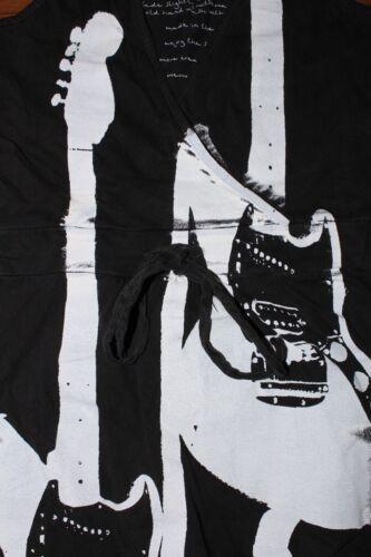 Stunning Wraparound V Neck Sleeveless Vest Dress Cobain Guitar Summer Festival