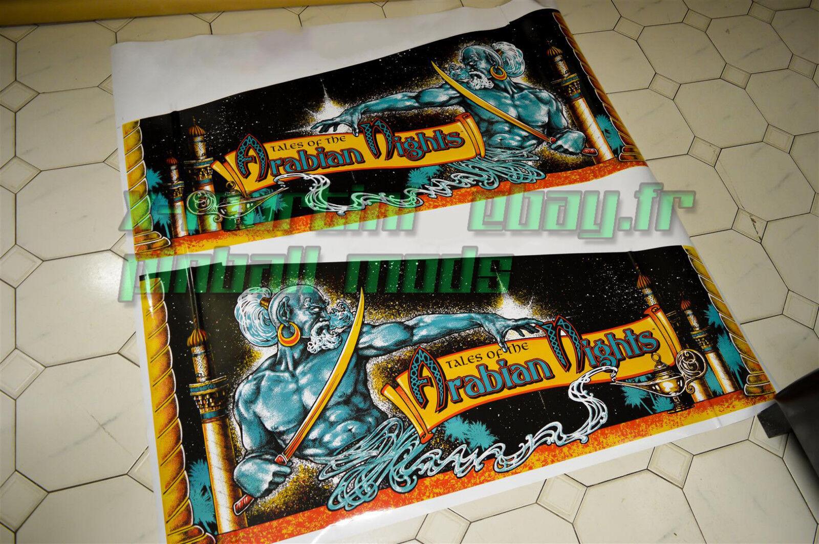 Tales of the Arabian Nights Decals  Pinball Decal Art Cabinet Williams  100% de contre-garantie authentique