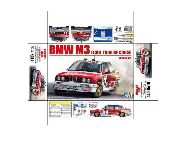 BMW M3 E30 Gr. a Rallye Tour de Corse 1988 Chatriot Bastos Kit beemax 1 24
