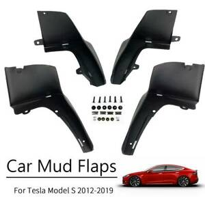XUKEY For Tesla Model S 2012-2019 Mud Flaps Splash Guards Mudguards Fender 4Pcs