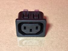 Power Entry Connector Panel Mount 250 VAC Pack of 2 10 A Solder, Plug 2169