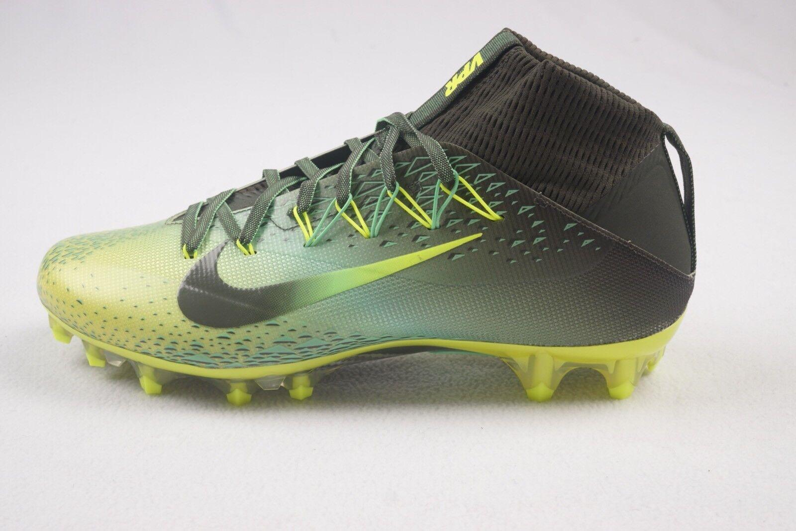 Nike Vapor Untouchable 2 Mens Football Cleats 10.5 Green Grey Volt Oregon Ducks