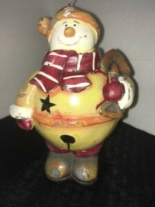 Christmas-Snowman-Candle-7-Inches