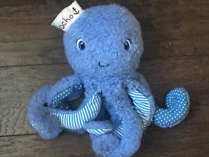 Bunnies By The Bay Ocho Octopus Blue Plush Soft Toy Stuffed Animal HTF