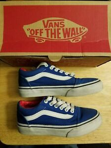 ec0c5a7440 Vans off the wall shoes. Blue and White with box lightly worn. Kids ...
