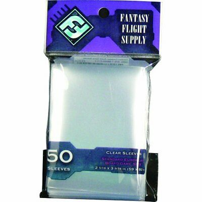 Fantasy Flight Games FFGFFS02 FFG Supply Clear Sleeves Mini European Board Gam