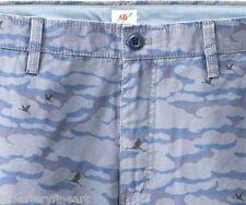 MICHAEL BASTIAN x UNIQLO 'Camouflage' Cargo Shorts Men's MEDIUM Blue Camo *NWT*
