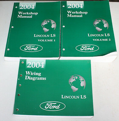 2004 Ford Lincoln Ls Service Manual Wiring Diagram Ebay