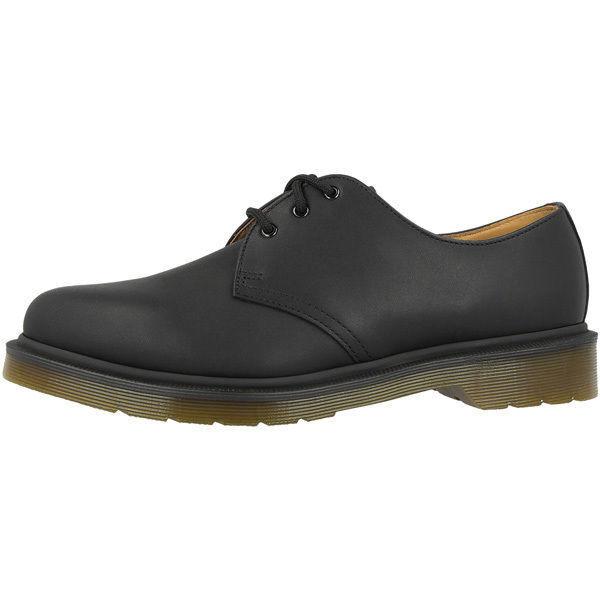 Neuf dans sa boîte Homme Dr Martens Noir Greasy 1461 PW 3 Œillet Chaussures UK 15 EU 51 US 16