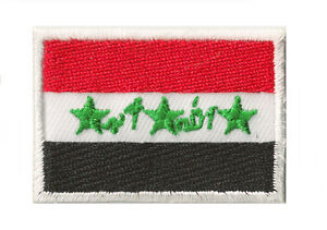 Toppa-ricamata-piccolo-Patch-stemma-termoadesivo-Iraq-45-x-30-mm
