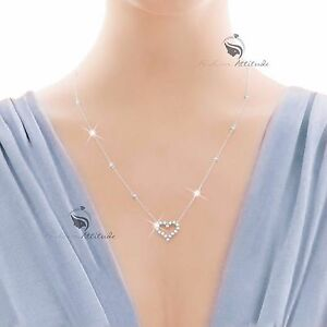 18K-WHITE-GOLD-GP-MADE-WITH-SWAROVSKI-CRYSTAL-LOVE-HEART-PENDANT-NECKLACE