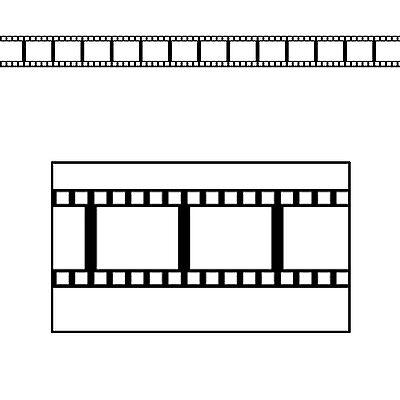 Filmstrip Border Trim - 11m - Hollywood Movie Star Party Decoration - Film Strip