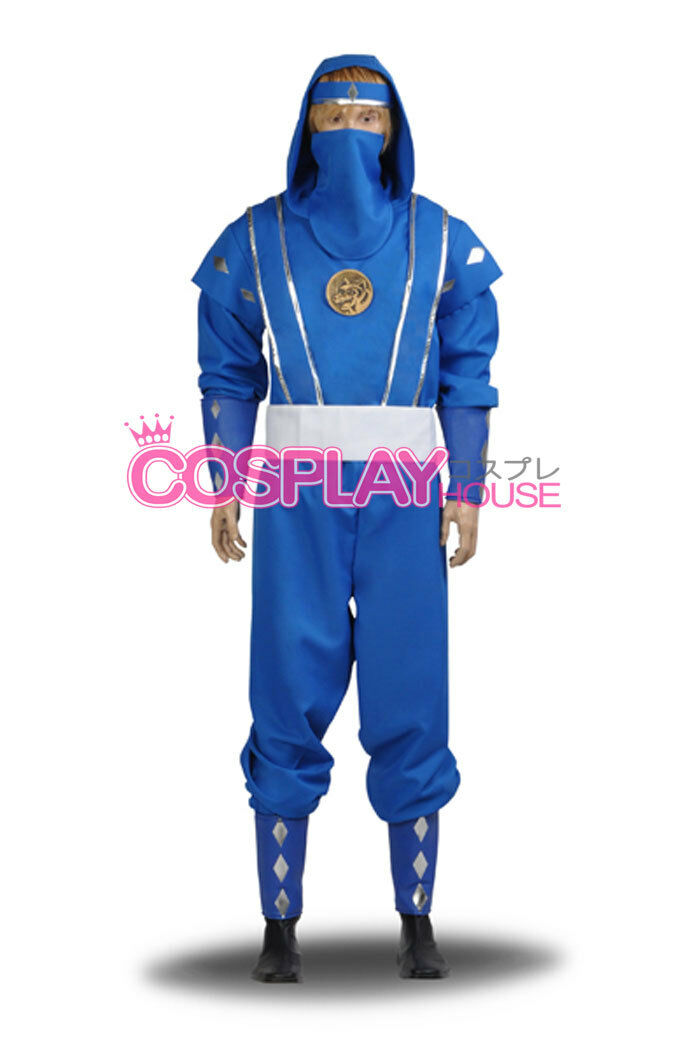 Mighty Morphin Power Rangers: The Movie - Blue Ninjetti Ranger Cosplay Costume