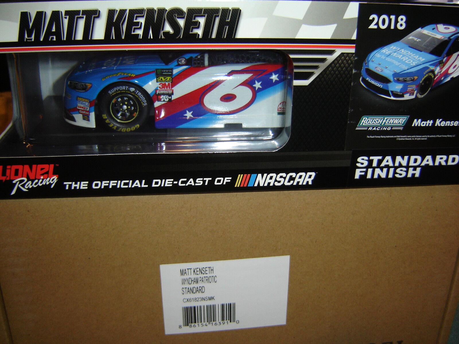2018 Matt Kenseth  6 Wyndham Patriotische 1 24 Ford Fusion IM LAGER Us