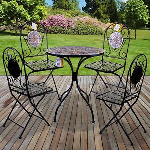 Mosaic Bistro Set Outdoor Patio Garden Furniture Dining